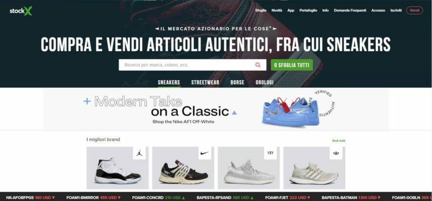 StockX presenta la versione in italiano