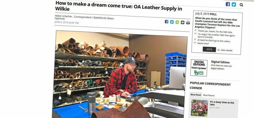 Ian Guenter faceva l'elettricista, ora vende pelli
