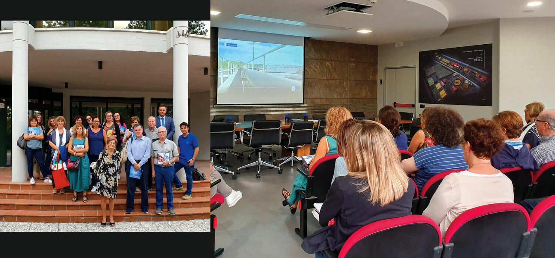 Venti docenti di chimica visitano il depuratore Aquarno
