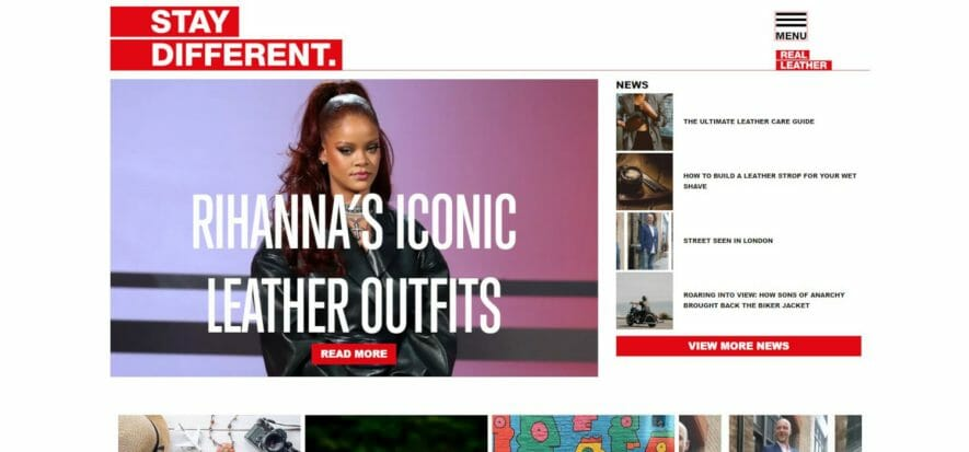 l'home page del sito Stay Different