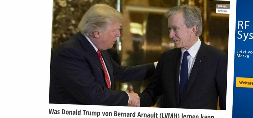 Trump inaugurerà lanuova pelletteria Vuitton in Texas