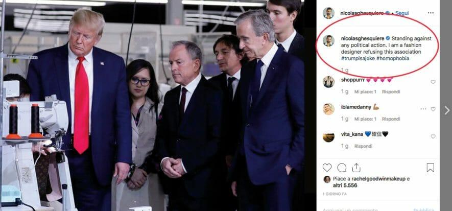 Polemiche per la presenza di Donald Trump da Vuitton in Texas