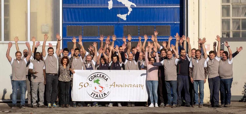 50 anni di Conceria Italia, investendo su innovazioni e giovani