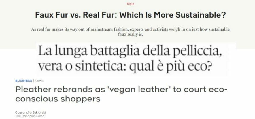 Ora tutti chiedono: fake fur e vegan leather sono davvero green?