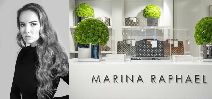 Marina Raphael (Swarovski) le sue borse le vuole made in Italy