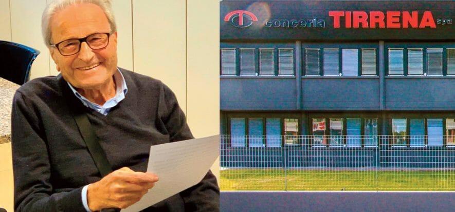 Romano Giordani, Tirrena: per i 90 anni fa un regalo ai dipendenti