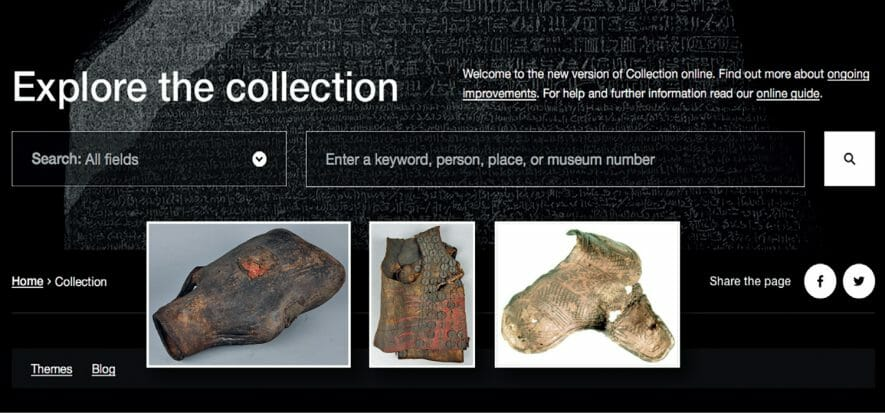 The British Museum's online database: focus on leather