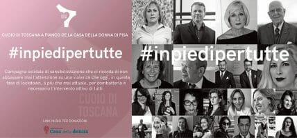 #inpiedipertutte, Cuoio di Toscana contro la violenza sulle donne