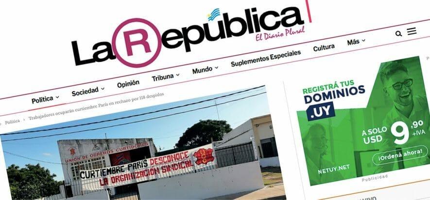 Curtiembre Paris, in Uruguay i dipendenti occupano la conceria