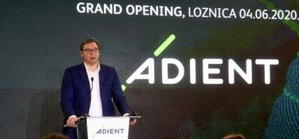 Adient raddoppia in Serbia: inaugurata la fabbrica di Loznica