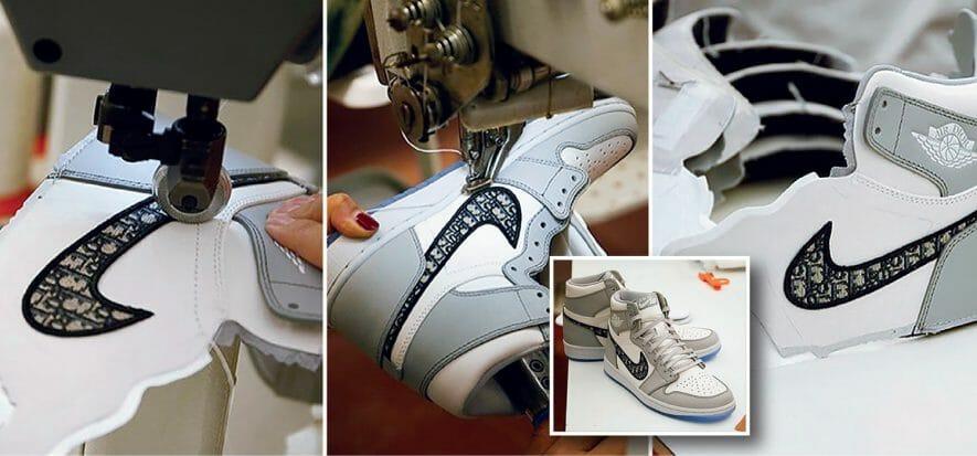 Le attesissime sneaker AJ1 OG Dior: 100% made in Italy