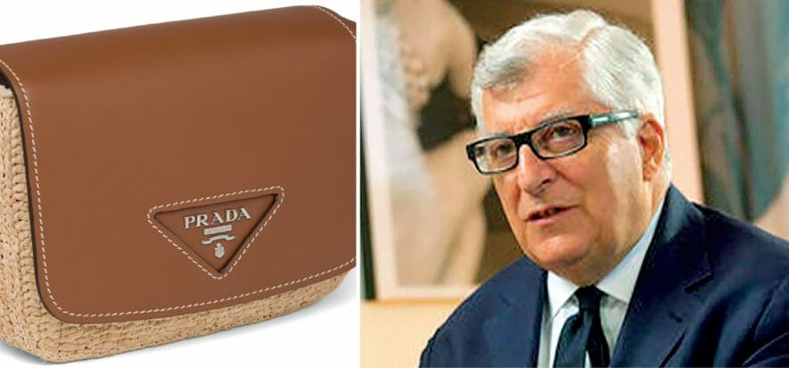Prada between revenge spending and leather purchases (78% of which are Italian)