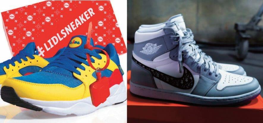 Sneaker e collezionismo schizofrenico: le Lidl come le Dior Jordan