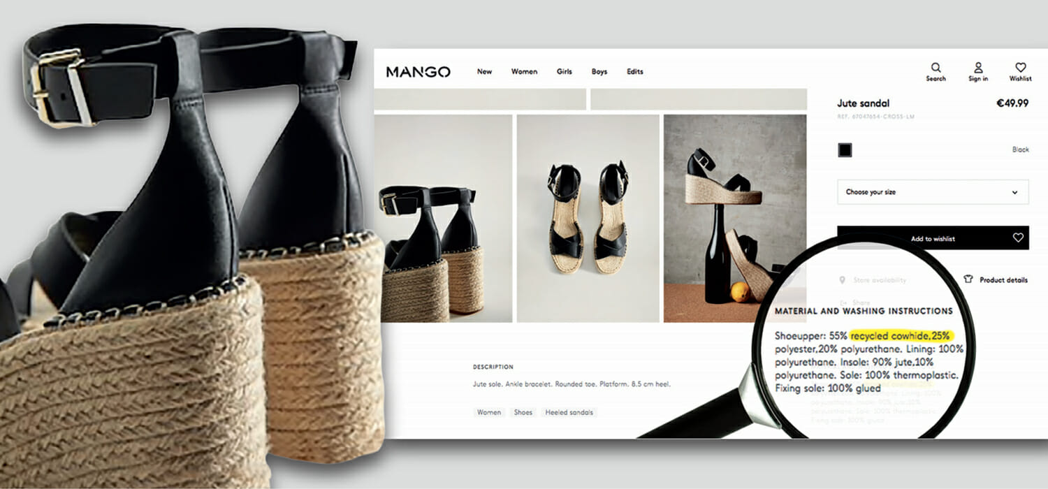 """Mango will no longer call regenerated leather """"recycled cowhide"""""""