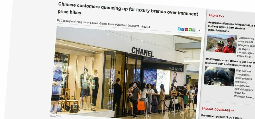 China, price adjustment is a hypothesis, yet queues are real