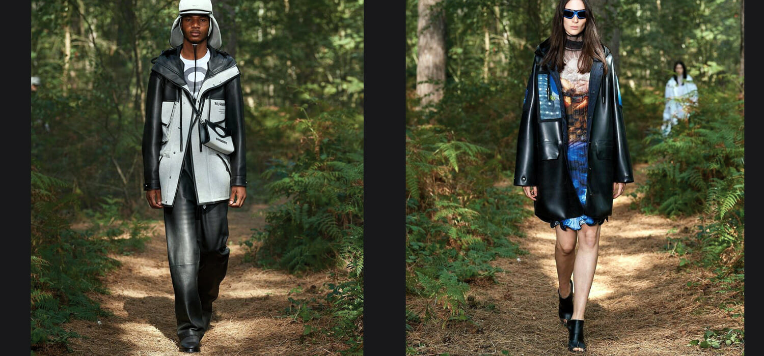 LFW: Burberry streaming fashion show in the middle of English forests