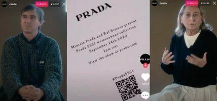 The streaming debut of Miuccia Prada and Raf Simons duo