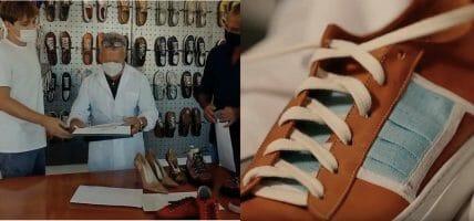 Una scarpa, una mascherina, l'idea creativa: tutto in questo video