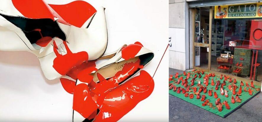 aiuto concreto della calzatura alle donne vittime di violenza