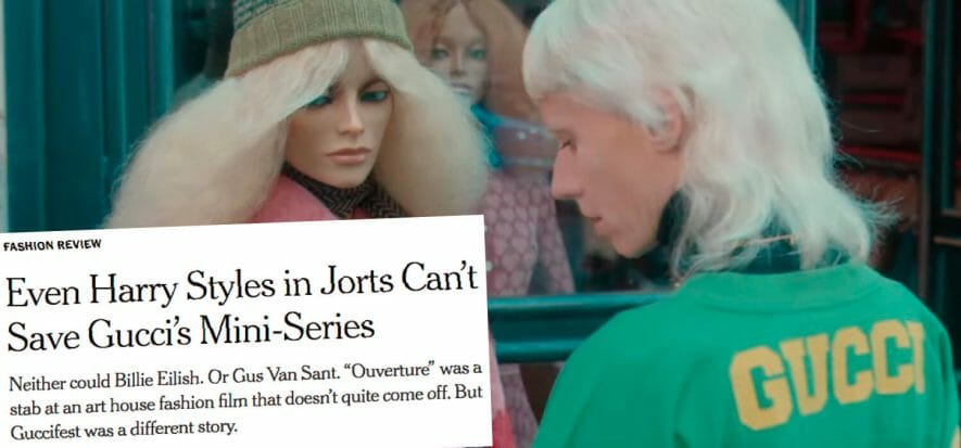 """NYT criticises GucciFest, """"The cinema-fashion turning point is missing: it's boring"""""""