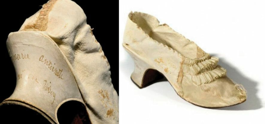 scarpa in pelle e seta