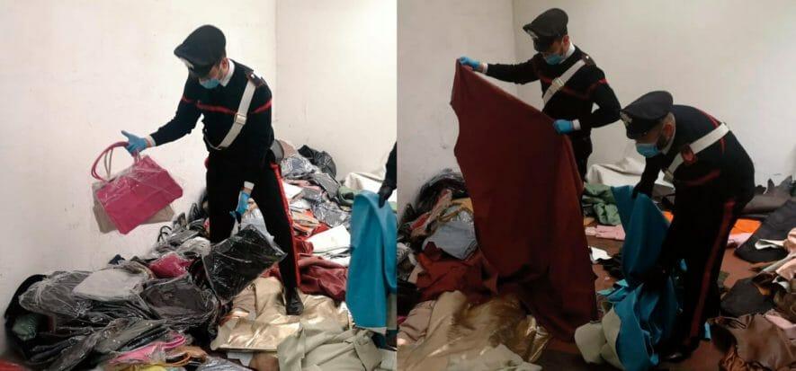 In un campo nomadi pelli e borse rubate a pellettieri cinesi