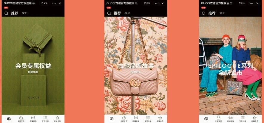 Gucci apre due store digitali su Tmall (e fa pace con Alibaba)