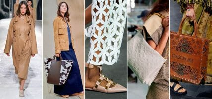Leather on the podium of the ranking of materials for summer collections