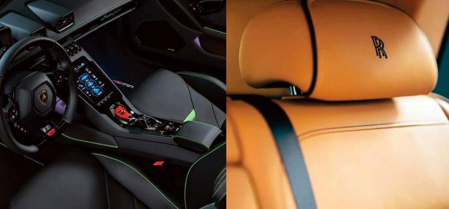 Lo spazio della pelle nel 2020 di Rolls-Royce e Lamborghini