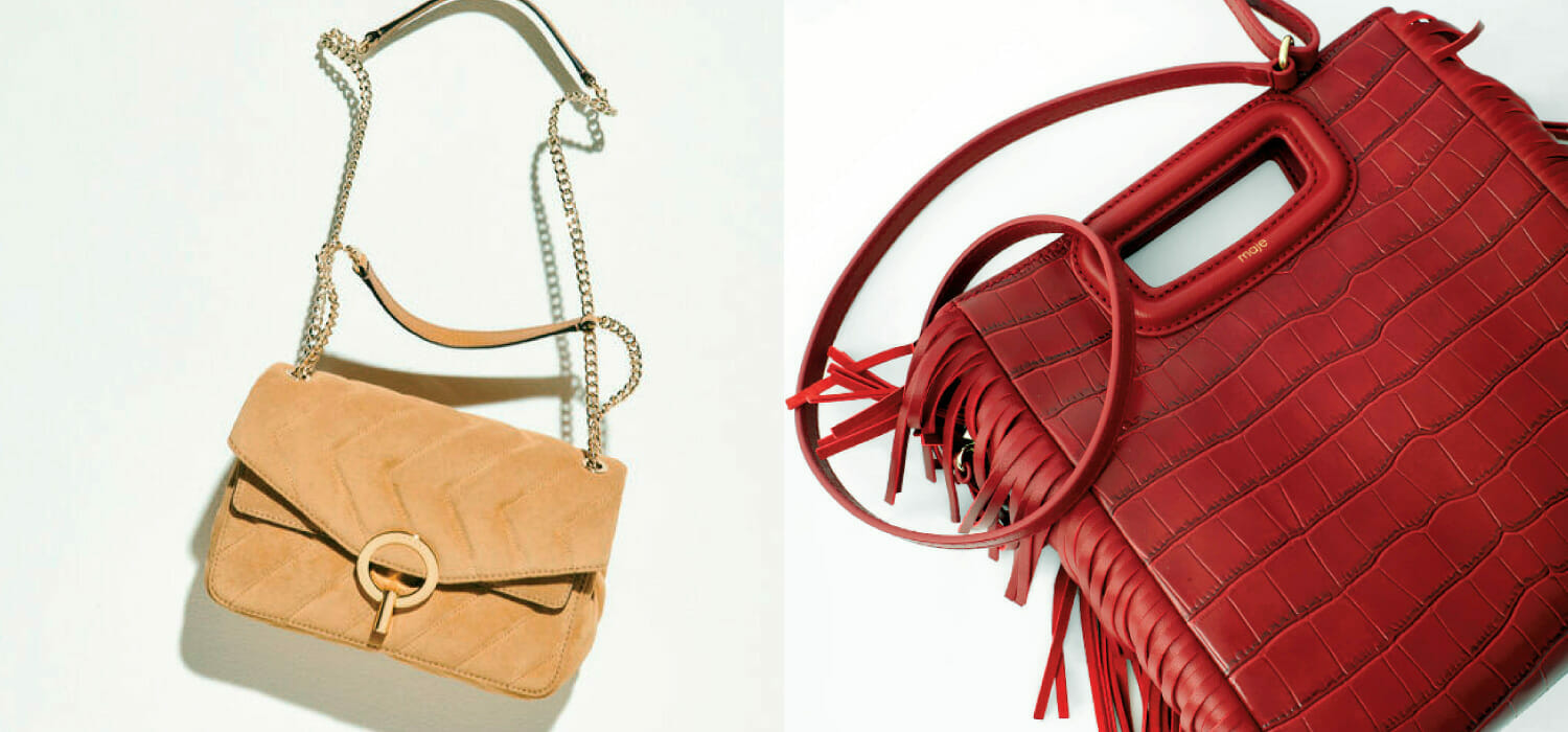 The M handbag by Maje and the Yza model by Sandro soften the blow for SMCP's 2020