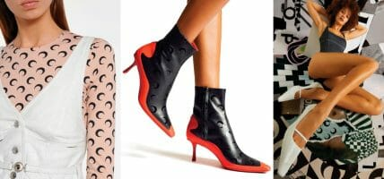 Leather in future fashion according to Marine Serre (and Jimmy Choo)