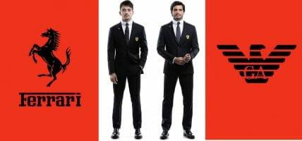 Nappa in monoposto: i piloti Ferrari vestono Giorgio Armani