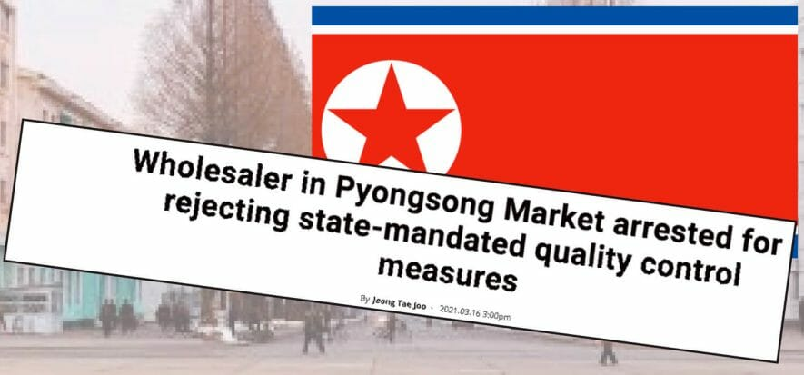 Trafficking in Pyongsong, the North Korean capital for fake goods
