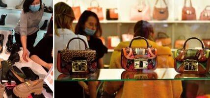 Obuv conferma che in Russia il tacco non va di moda, la borsa sì