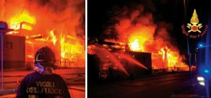 Arezzo, incendio al calzaturificio di Valentino (160 dipendenti)