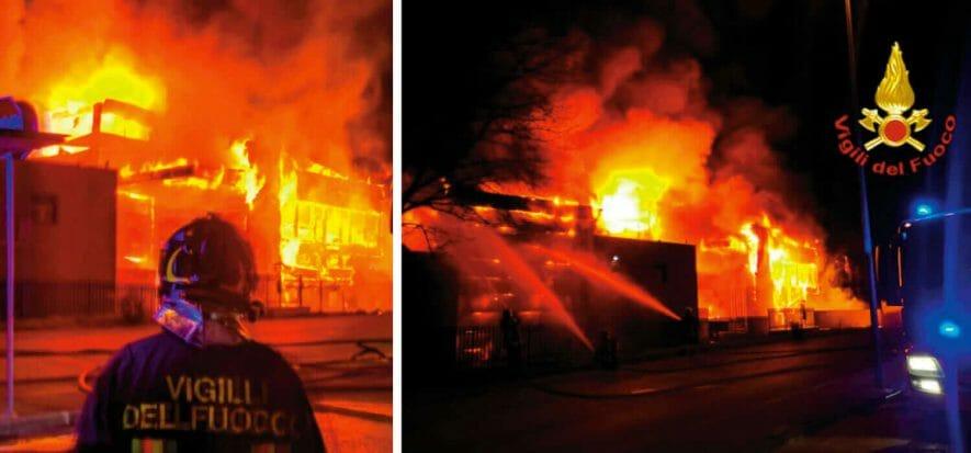 Arezzo, l'incendio al Valentino Shoes Lab sarebbe colposo