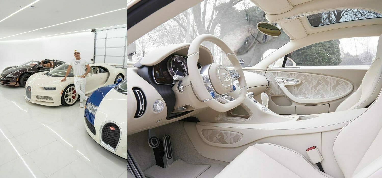 Lo youtuber milionario e la sua Bugatti Chiron Hermès, pezzo unico