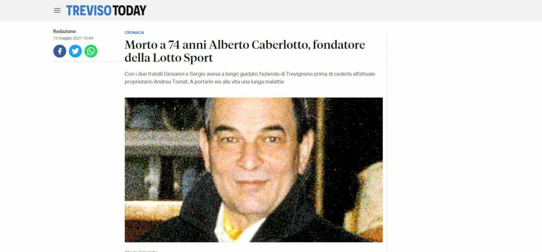 Se ne va Alberto Caberlotto (74), cofondatore di Lotto Sport