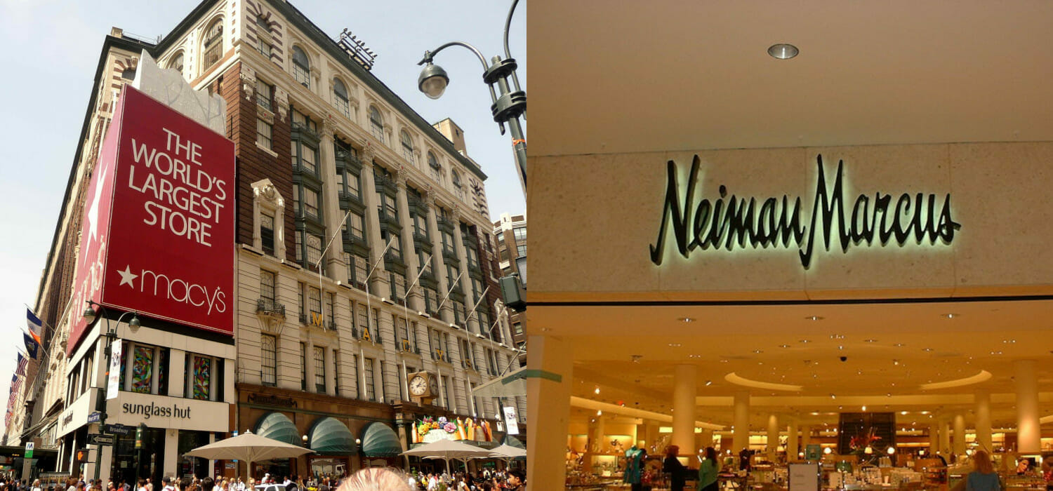 Stimuli for consumption are working, Macy's and Neiman Marcus fly