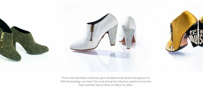 """In una mostra le scarpe di Prince, """"estensione della sua arte"""""""