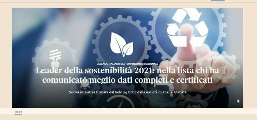 I 9 big della moda tra i 150 leader italiani della sostenibilità