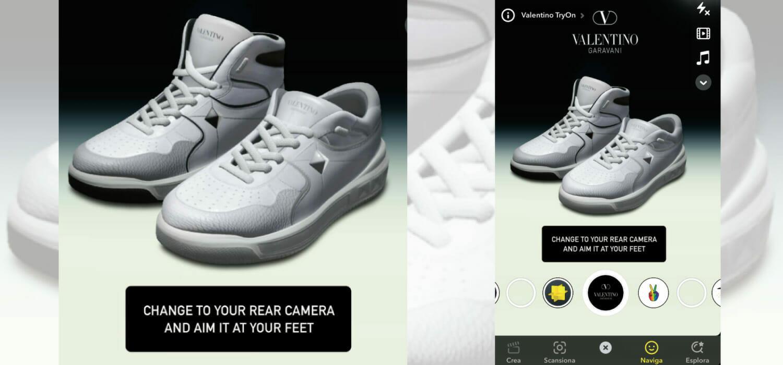 Realtà aumentata: Valentino con Snapchat per le sneaker One Stud