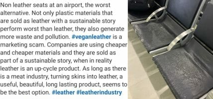 On LinkedIn there are talks about the bluff of leather imitations