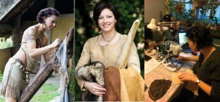 Thus, I teach prehistoric tanning: Theresa Emmerich Kamper
