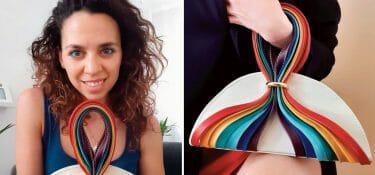Valeria Zingaretti è in finale al DAB con la sua borsa Arcobaleno