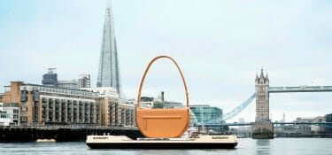 What's a giant Burberry bag doing on the Thames?