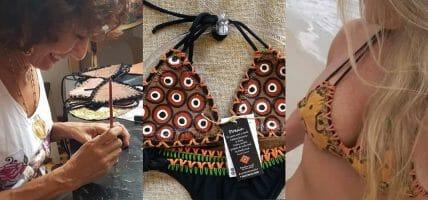 I bikini in pelle (circolare) di Emilia per le spiagge brasiliane