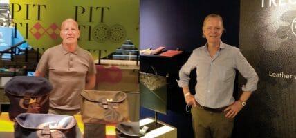 Due brand artigiani portano a Pitti accessori per ufficio in pelle