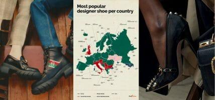 """Le scarpe Gucci sono le più """"cercate"""" in Europa, ma non in Italia"""