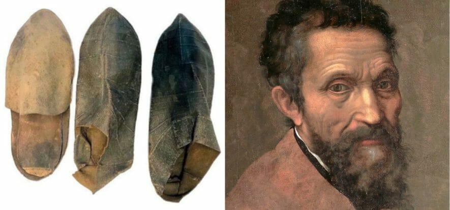 Le sue scarpe in cuoio ci danno una certezza su Michelangelo